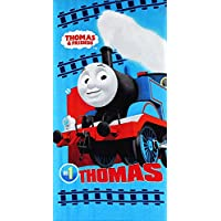 Thomas & Friends Kids Bath Beach Towel 140 x 70 CM Cotton (Blue 2)