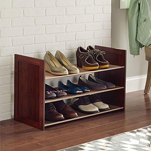 Ablagegestelle Brown/Weißes Einfaches mehrschichtiges Schuh-Lagerregal-Regal (Farbe : Brown, Größe : 81cm*34cm*48cm)