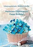 Herzlichen Glückwunsch / Happy Birthday - Geburtstagskalender A4 - Jahresunabhängig