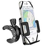 Supporto Bici Smartphone, Universale per il Manubrio della Bici, Porta Telefono Bici, GPS e altri Dispositivi Elettronici per Bicicletta Ciclismo, Compatibile per iPhone 7/6/6S/6/6S Plus/5/5S, Galaxy S7/S4/S5/S6 Edge/Note 5, Huawei LG Xiaomi Nokia, per Bici Moto Bike, Nero