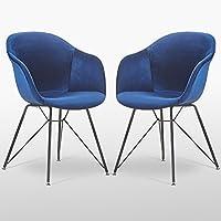 P U0026 N Homewares® Valentina Samt Stuhl In Royal Blau (Zwei Stühle) | Für  Wohnzimmer, Schlafzimmer,, Büros, Esszimmer, Etc. | Stoff Gepolstert  Kunststoff ...