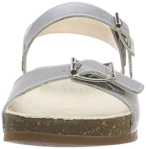 Clarks VolkinIcon Inf, Sandales Bride cheville fille Argent (Silver Leather)