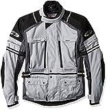 Joe Rocket Ballistic Adventure Men's Textile Touring Motorcycle Jacket (Silver/Gunmetal, Medium)