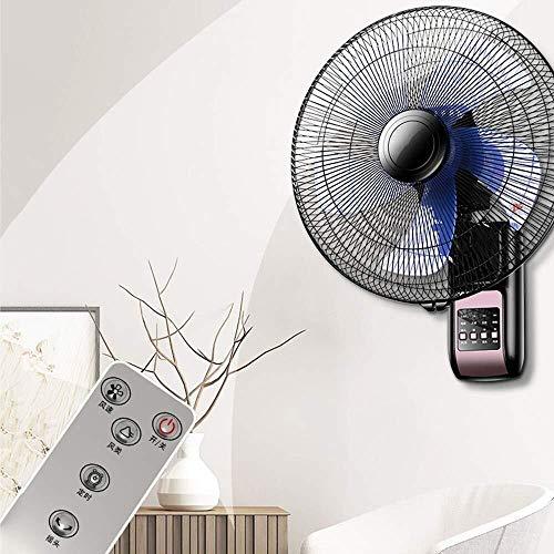 Wuyeti Montado en la Pared eléctrico Ventilador Gira 3 Velocidades Control Remoto de 16...
