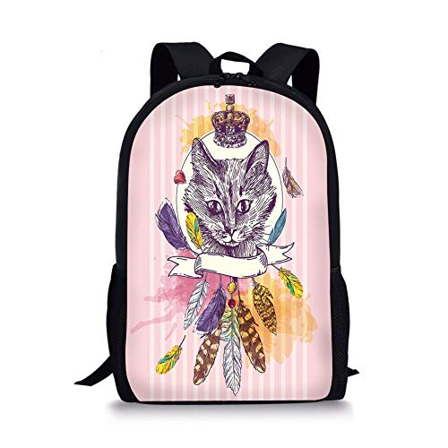 School Bags Eiffel,Love in The City Paris French Bridal Composition Romantic Travel Pink Blossoms Decorative,Rose Black White for Boys&Girls Mens Sport Daypack French White Pop