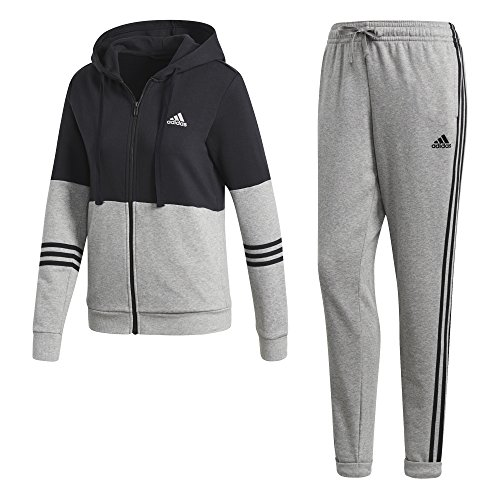adidas Damen Energize Trainingsanzug, Black/Medium Grey Heather, L