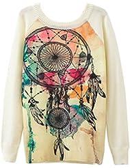 Gladiolus Señoras de las Mujeres Empalmado Manga Larga Camiseta de las Tapas de la Blusa