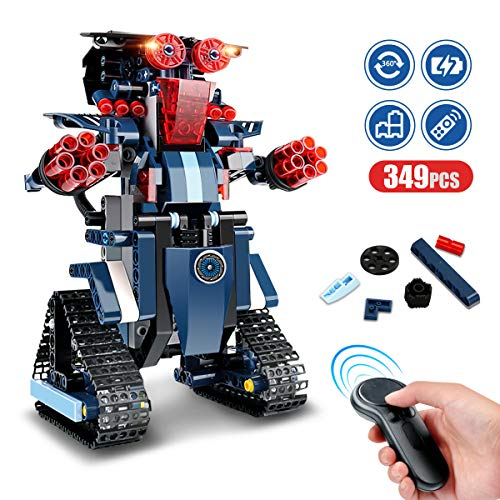 RC Robot STEM Toys, Building Block Robot Kits Educational Electric Remote Control Robot Bricks Creative Toys for Children Construction Building Robot Learning Toy Gift for Kids Age 8 Years Old and up