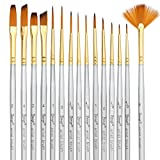 Bianyo Detail Paint Brush Set, Miniature Liners Brushes for Fine Detailing, Model Painting