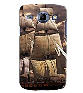 Blue Throat Old Boats Effect Printed Designer Back Cover For Samsung Galaxy Core