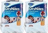 Huggies DryNites Nachthöschen, für Jungen, 3-5Jahre (16-23kg), 2x16Stück für Huggies DryNites Nachthöschen, für Jungen, 3-5Jahre (16-23kg), 2x16Stück