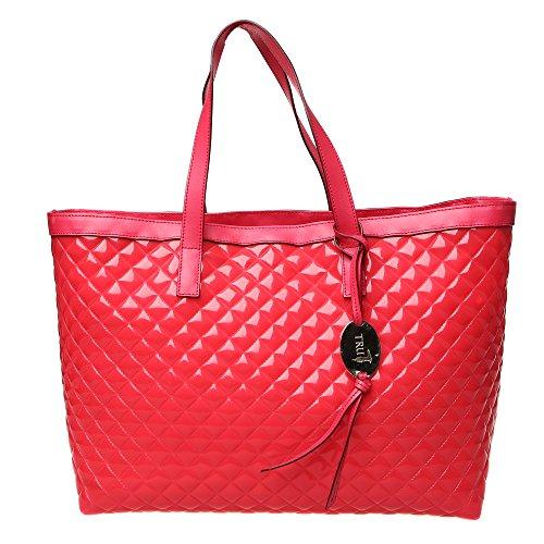 782c2a7bf8 Trussardi Jeans Borsa a Mano da Donna Sintetica con rifiniture in pelle -  Linea Shopping 66B400K124