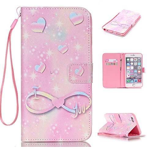 """Nutbro iPhone 6 Plus / iPhone 6S Plus Case, Flip Cover [Stand Feature] with Built-in Credit Card Slots Wallet Case for iPhone 6 Plus (5.5"""") / iPhone 6s PLUS (5.5 inch) 22"""