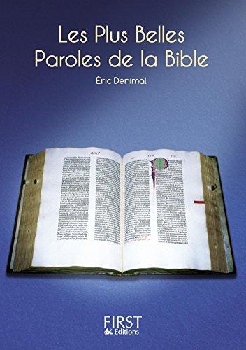 Petit livre de - Les plus belles paroles de la Bible (LE PETIT LIVRE) par Éric DENIMAL