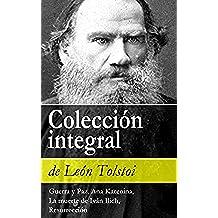 Colección integral de León Tolstoi: Guerra y Paz, Ana Karenina, La muerte de Iván Ilich, Resurrección