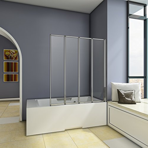 1000x1400mm-chrome-4-fold-folding-shower-bath-screen-glass-panel-next-working-day-delivery