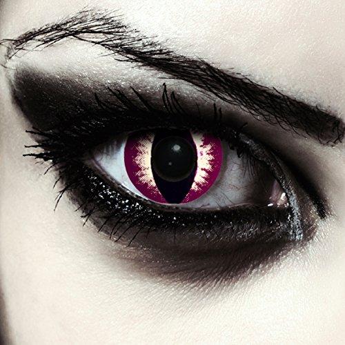 Katzen Kontaktlinsen für Halloween Karneval Katzenaugen