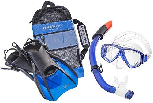 Aqua Lung Sport La Costa Travel Deluxe 3er Set (Tauchmaske, Schnorchel & Flossen) inkl. Beutel - Blue - Gr. 40-44