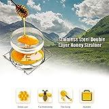 Yosoo Gran Acero inoxidable Apicultura Equipo Doble Colador / Filtro de Miel Tamiz Caliente