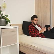 Almohada Grande Para Leer Con Soporte Para La Espalda Para Una Posición De Sentado Óptima, Almohada Tipo Cuña, Cojín de Espuma, Color: Negro