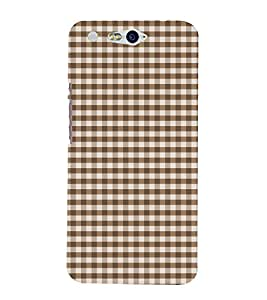Brown Checks 3D Hard Polycarbonate Designer Back Case Cover for In Focus M812 :: InFocus M 812