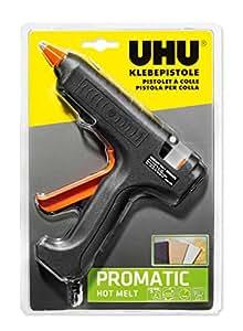 Uhu 48380 - Pistola di colla a caldo sciogliere promatic, tra cui 3 cartucce