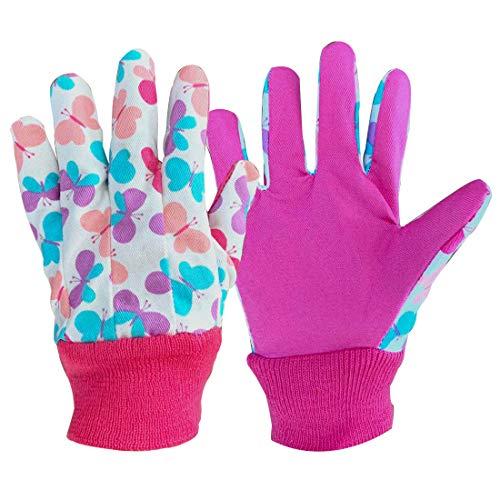 3 pares de guantes de jardinería para niños