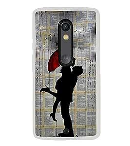 Love Couple 2D Hard Polycarbonate Designer Back Case Cover for Motorola Moto X Style :: Moto X Pure Edition