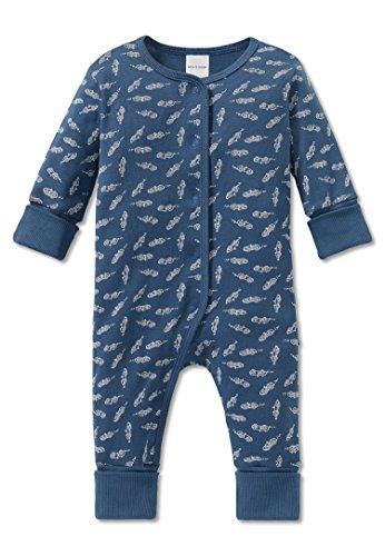 Schiesser Jungen Zweiteiliger Schlafanzug Grand Prix Baby Anzug mit Vario, (Blau 800), 92