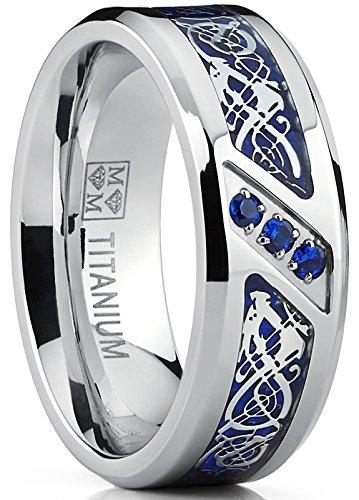 Ultimate Metals Co. - Anello di matrimonio in titanio con motivo drago in...