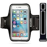 iPhone 7Armband | smashterminator® Sport Armband für iPhone 7| perfekt für Laufen, Joggen, Walking, Wandern, Workout & Übungs-| auch, hochwertige PREMIUM Neopren mit Kopfhörer und Schlüssel Slots Plus Extender Gurt