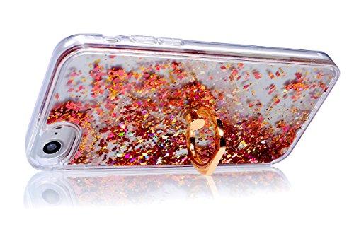 Custodia iPhone 6S 4.7 Cover iPhone 6 4.7,Ukayfe Cristallo di lusso di Bling di scintillio lucido diamante scintilla iPhone 6/6S 4.7 Case Copertura Custodia Cover [Cristallo Trasparente] Protettiva Tr Diamante Rosa 7