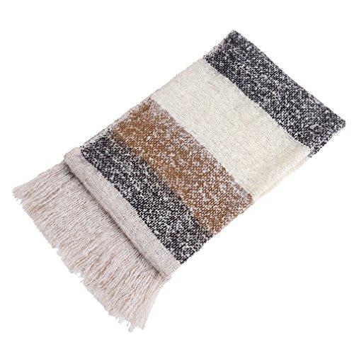 HENGSONG Nuovo Nappa Pashmina Sciarpa Elegante Sciarpe Invernali Pashmina Abbigliamento Scialle Lana Donna 205x70cm (Colore 2) Colore 4