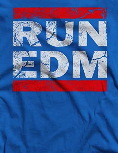 Run Edm Vintage T-Shirt S-XXL 12 Farben / Colours Royal Blau