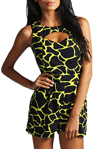 E-Girl femme Jaune SY6298-2 robe de cocktail Jaune
