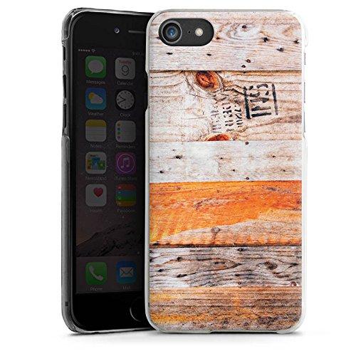Apple iPhone X Silikon Hülle Case Schutzhülle Holz Look Planken Muster Hard Case transparent