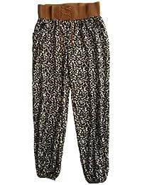Damen Pumphose / Haremshose / Yoga Pant / Pluderhose mit Alloverprint, Jersey-Strick, Elastikbund