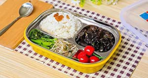 FWQPRA stainless steel lunch box with compartment/kids meal box/leakproof bento lunch box container