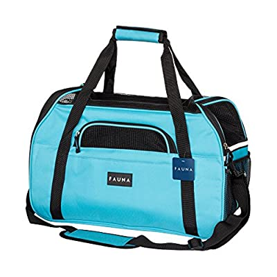 Fauna® Pet Travel Carrier Dog/Cat/Puppy - Lightweight Luxury Folding Airplane Bag With Soft Cushion … by All Pet Solutions
