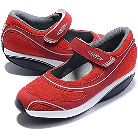 Baridi Red Walking Shoes Trail Casual Slip On Running Fitness