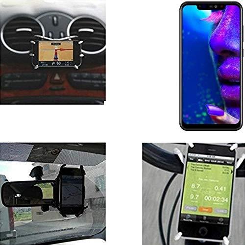 """K-S-Trade für Allview Soul X5 Autohalterung & Tischständer für Allview Soul X5, schwarz """"Spider"""". Lüftungshalterung Halterung Rückspiegel, Fahrradhalterung etc. Stativ"""