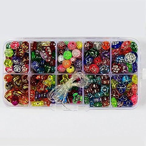 PsmGoods 10 Georgia Beads colorati lettera Perle acrilico DIY