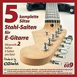 Corde per chitarra elettrica - 5 set completi (con corda doppia del mi alto)