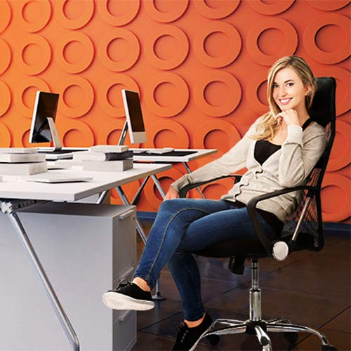 Design Bürostuhl mit Kopfstütze, Netzrücken, Wippfunktion & Armlehne – ergonomisch, höhenverstellbar – schwarz - 4