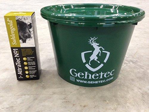 Attratec Buchenholzteer Suhlengold No 1 Lockmittel + großer grüner Eimer mit Deckel