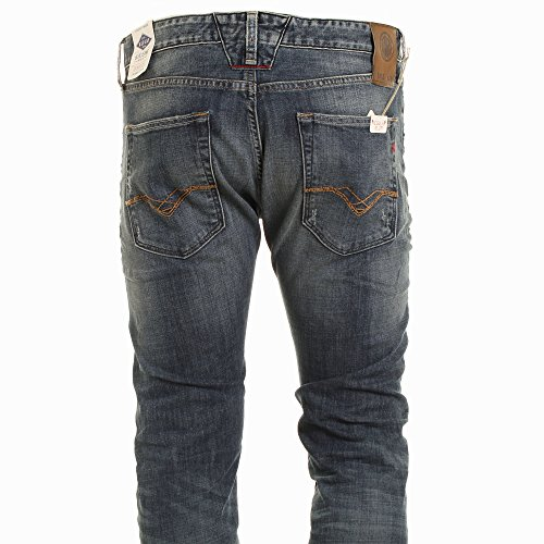 Replay, Herren Jeans Hose, Lenrick Regular Slim,Stretchdenim,blue vintage [18410] Blue Vintage