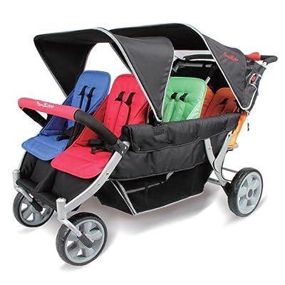 familidoo Heavy Duty Kinderwagen, 6-Sitzer