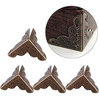 Haofy 12 Piezas Protector de Esquina de Metal en Forma de Triángulo para Decorativo de Caja Protector de Cubierta (Bronce)