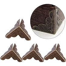 Haofy 12 Piezas Protector de Esquina de Metal en Forma de Triángulo para Decorativo de Caja