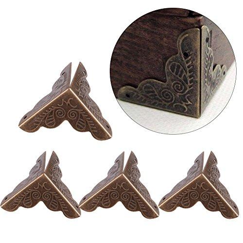 Haofy 12 Piezas Protector Esquina Metal Forma Triángulo